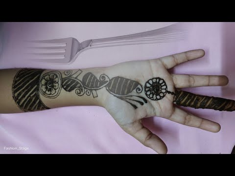 Apply mehndi design with the help of fork   fork mehndi trick for easy and simple mehndi design  