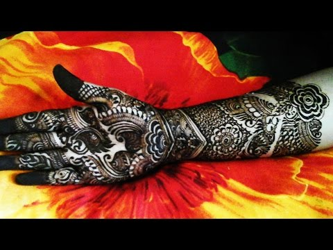 Best mehndi designs for festivals & marriage functions for front hand 2015 video