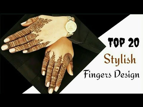 Top 20 : different types fingers mehndi designs | special henna mehndi | fashion style