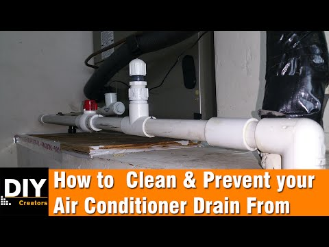 How to clean and prevent your air conditioner drain from clogging