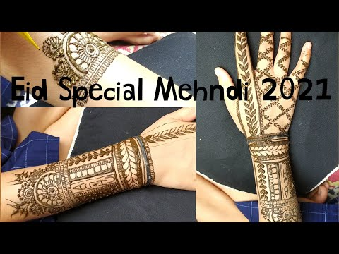 Mehndi specially designed for eid 2021/ istyle mehndi/ step by step tutorial