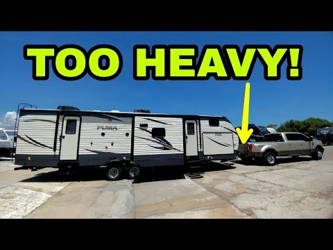Crazy heavy travel trailer! see how much with weigh-safe hitch!