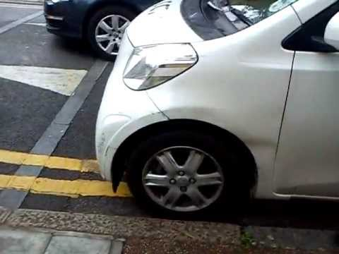 Cctv parking enforcment car outside school on double yellow lines