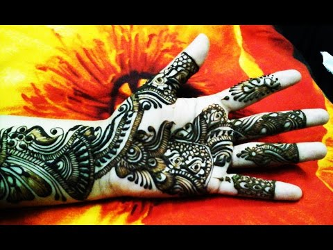 Best indian arabic mehndi design for front hand 2015 video