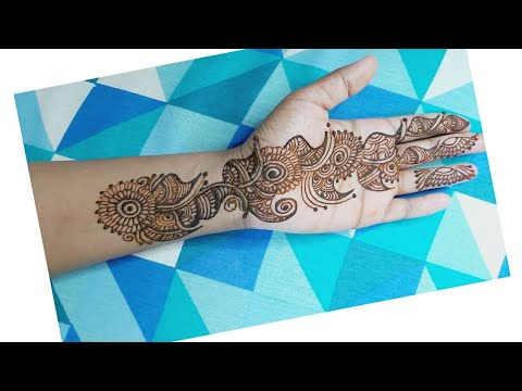 Simple arabic mehndi design for front hand||arabic classic mehndi design||m2m art designs
