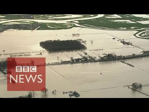 Storm desmond: helicopter journey over flooded cumbria - bbc news