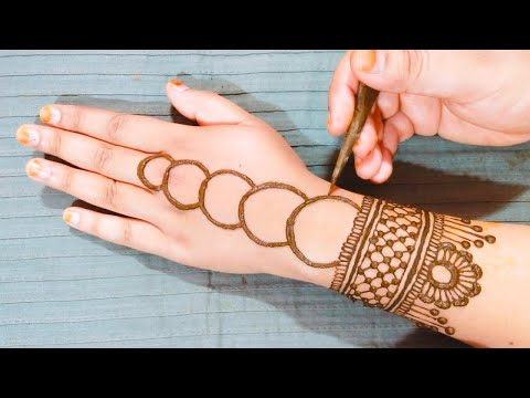 New stylish floral mehndi design for hands -easy arabic mehndi designs -simple bridal mehndi designs
