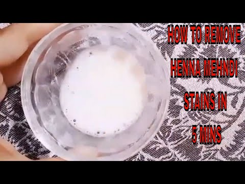 How to remove henna mehndi stain in just 5 mins
