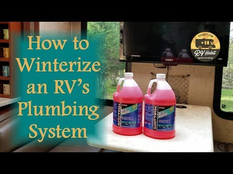 Winterizing an rv's plumbing water system - how to winterize rv & trailer air & antifreeze