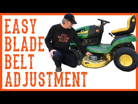 How to adjust the belt tension on a riding lawn mower / tractor