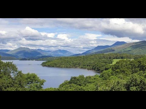 Banks and braes on visit to loch lomond in the trossachs of scotland