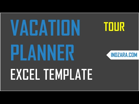 How to plan team capacity using team vacation planner excel template