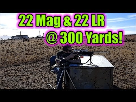 300 yards with 22 mag and 22 long rifle!