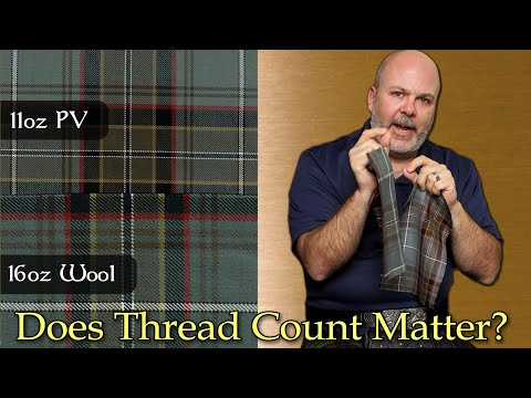 """Do tartan thread counts matter? is there a """"correct"""" thread count to make a tartan look right?"""