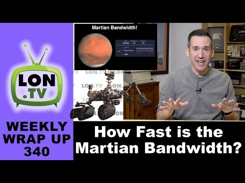 How does nasa get video from mars? how fast is the martian bandwidth?