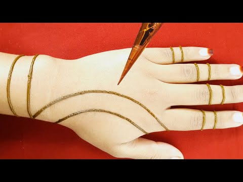 Henna designs | easy and beautiful mehndi design for back hands - mehndi planet