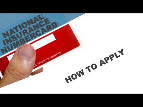 How to apply for national insurance number in the uk