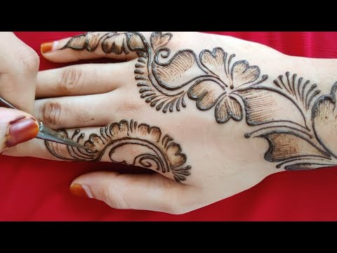 Best mehndi design - beautiful shaded mehndi designs for back hand - mehndi designs easy and simple