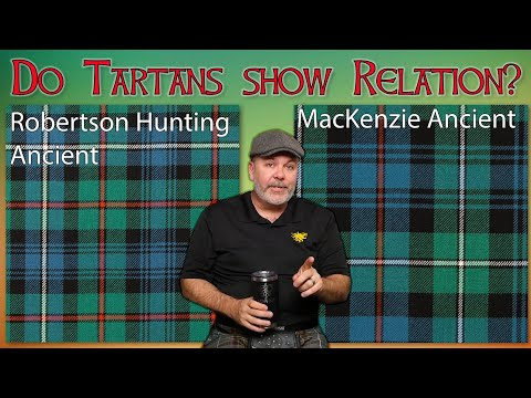 Are clans with similar tartans related to each other? why do some clan tartans look so similar?