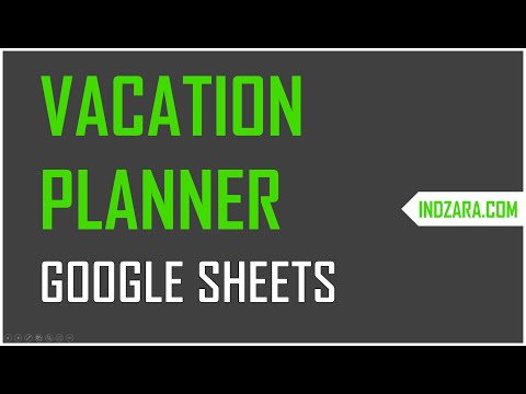 Team vacation planner in google sheets